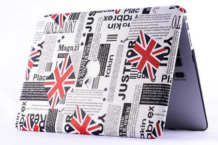 Journal style de UK Drapeau de haute qualité étui complet du corps pour MacBook air 11 13