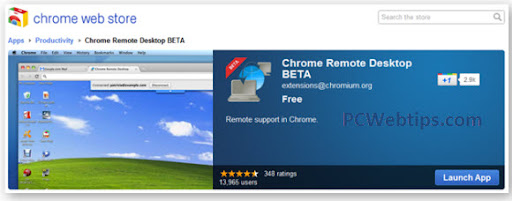 chrome remoto