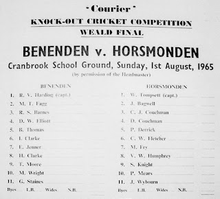 1965: Benenden v Horsmonden