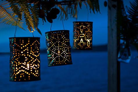 фенери за двора от консервени кутии