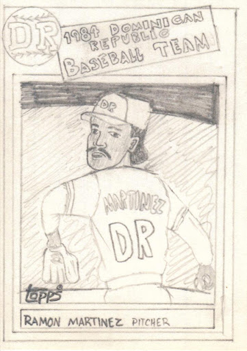 Original Carter Sketch Card Ramon Martinez The Writers