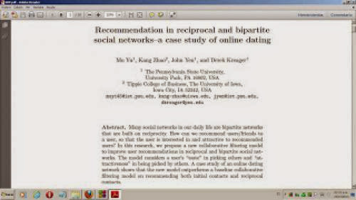 Paper Recommendation In Reciprocal And Bipartite Social Networks