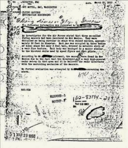 Fbi Document Talks Of Ufos And Aliens