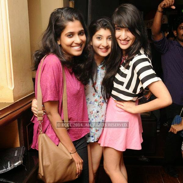 Shibani, Himani and Simran during a Ladies Night party, held at 10 Downing Street.