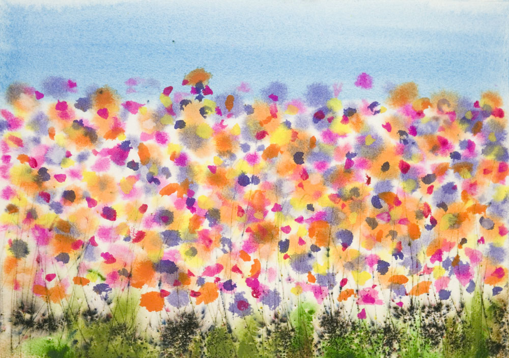 Abstract Watercolor Paintings of Flowers Abstract Watercolor Painting