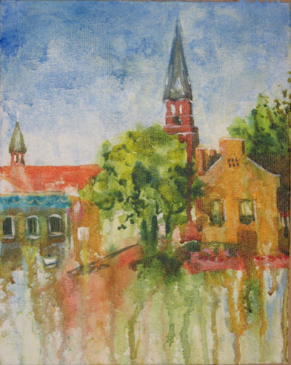 """""""View of First Capitol Drive"""" by artist Nancy M. Young."""