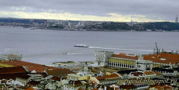 Река Тежу Лиссабон фото