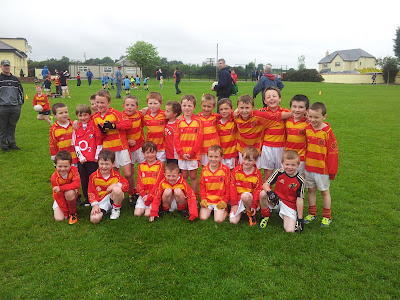 Under 8 team that played Barryroe in Newcestown on 2 June 2012