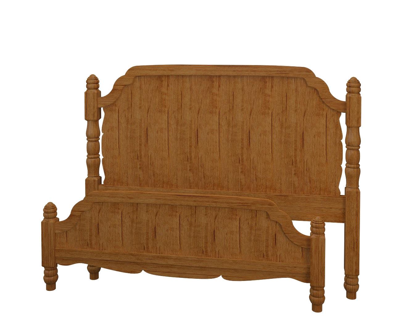 Farmhouse Platform Bed In Como Maple