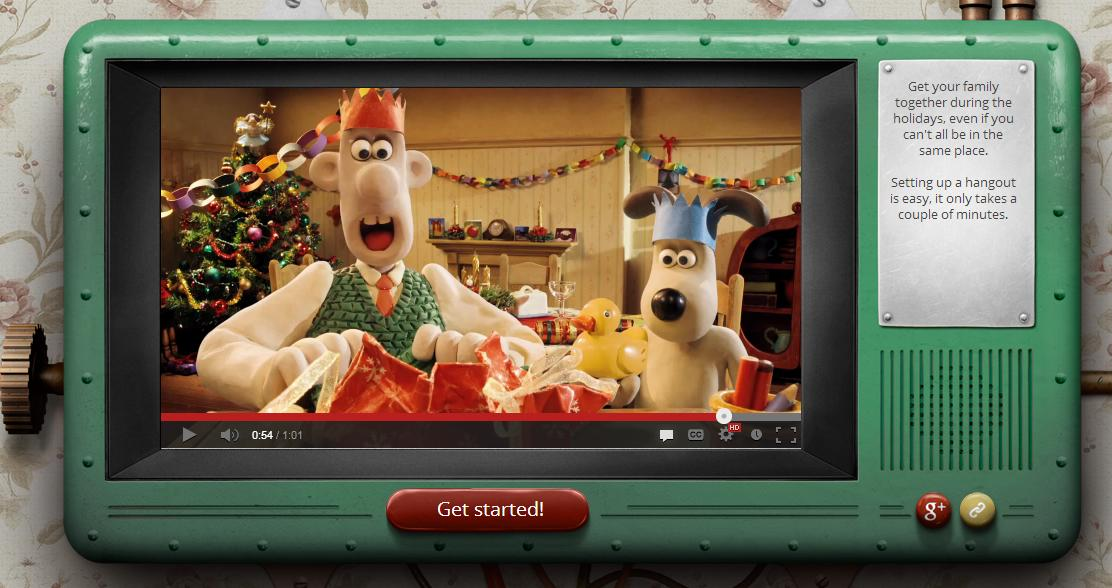 Wallace and Gromit Google+ Hangouts Tis The Season For Family Get Togethers