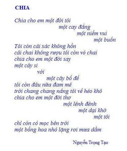 Chia cho em một đời tôi- Nguyễn Trọng Tạo