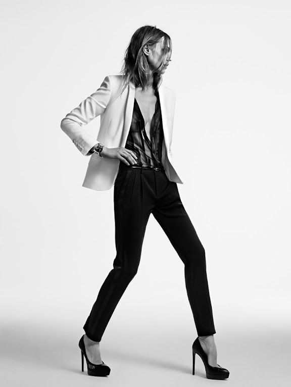 *Saint Laurent 2014度假系列:Sasha Pivovarova冷豔詮釋! 5