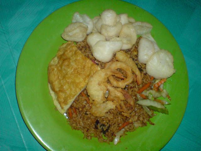 Nasi Goreng Seafood di Pondok Seafood Bandar Jakarta