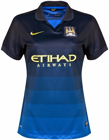 Jual Jersey Ladies Manchester City Away 2014-2015