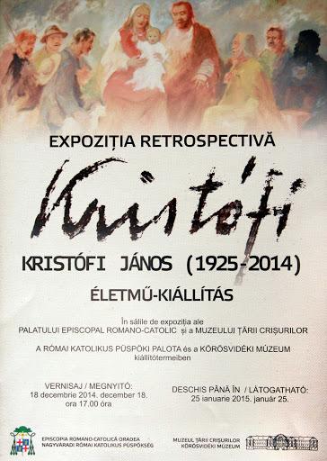 Expoziţia retrospectivă Kristofi Janos la Muzeul Ţării Crişurilor #1