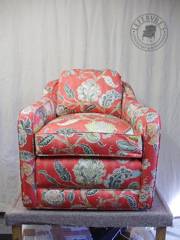 Lefebvre\'s Upholstery: Bisson & Choquette Swivel Chair - Bright Pink ...