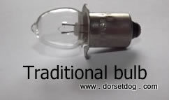 Traditional torch bulb