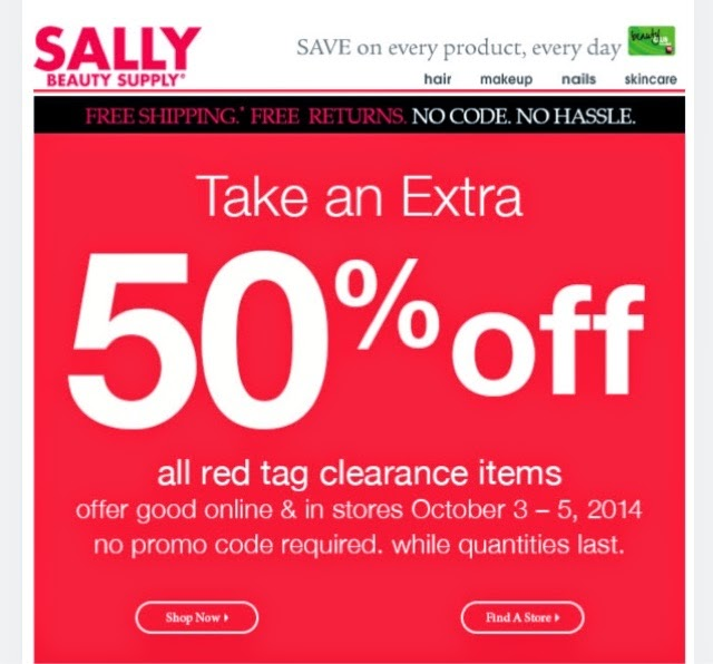 Sally Beauty Supply Red Tag Sale