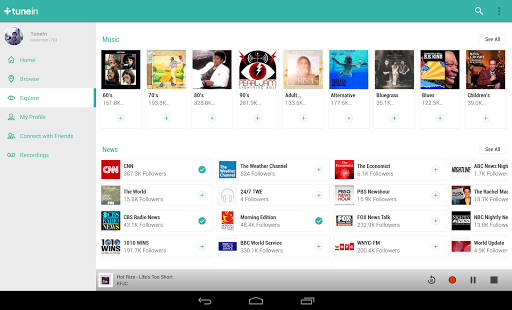 TuneIn Radio Pro for Android