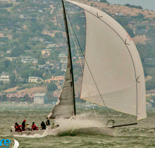 J/125 Double Trouble sailing San Francisco Bay- Farallones Island Race