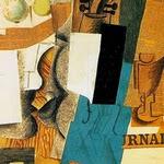 Compotier avec fruits, violon et verre - P. Picasso