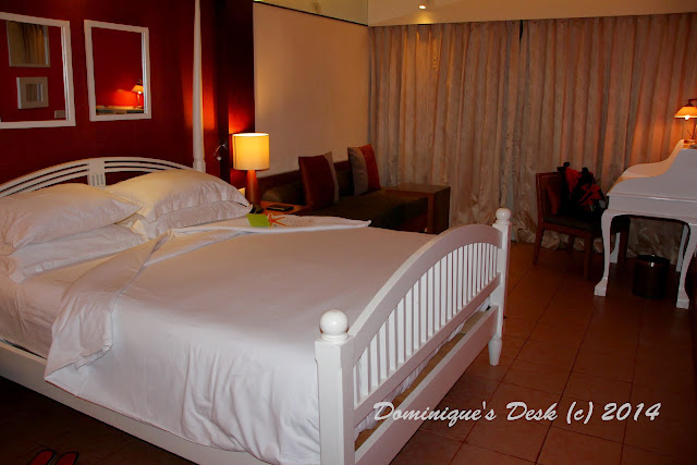 The King size bed in the one bedroom suite