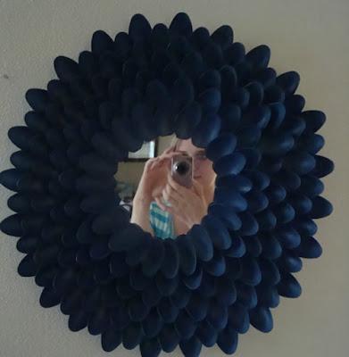 espelho de colheres preto
