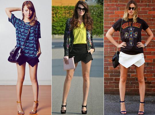 Resultado de imagem para como usar short saia