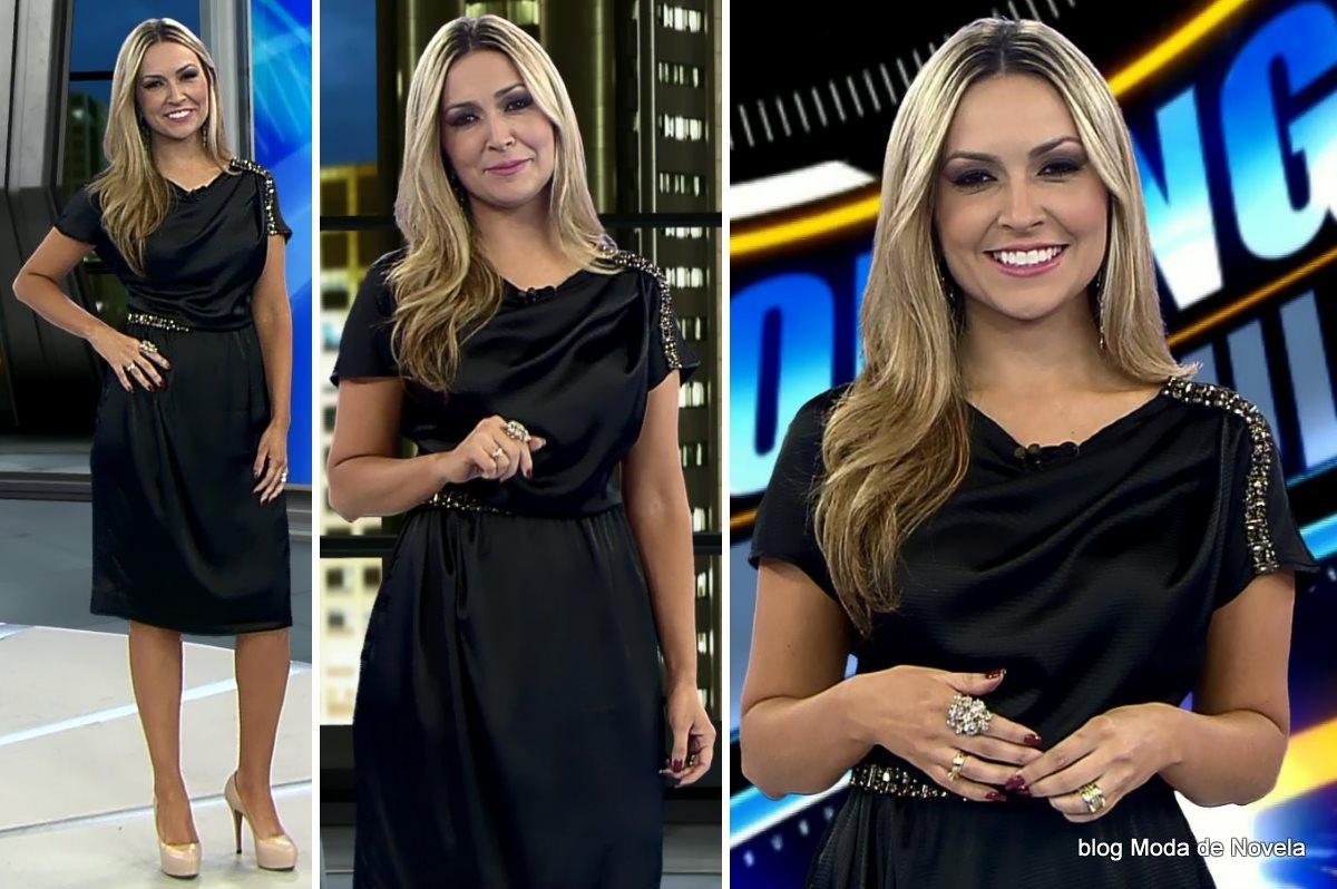 moda do programa Domingo Espetacular - look da Thalita Oliveira dia 22 de junho