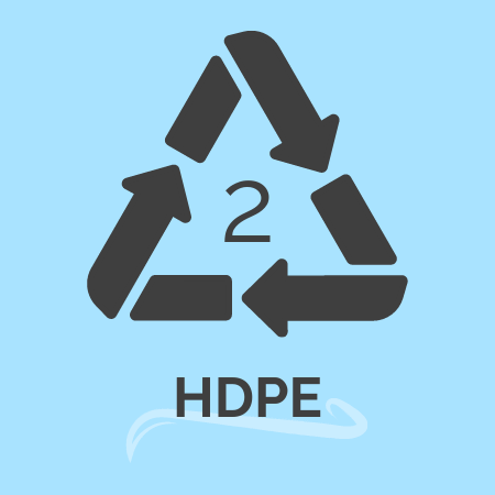 plastic recycling number 2 -HDPE