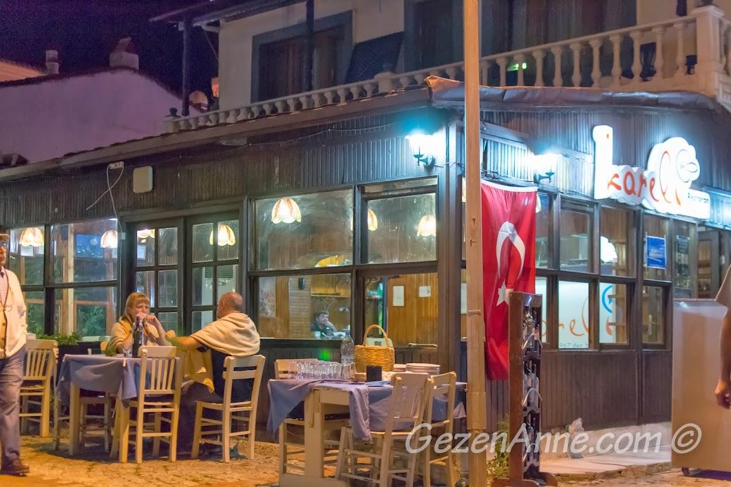 Bozcaada, Koreli Restoranın kapalı alanı