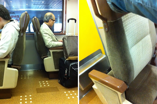Reversible train seats