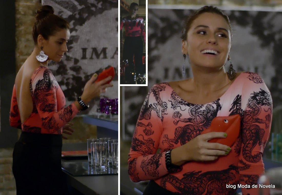 moda da novela Em Família - look da Clara dia 4 de junho