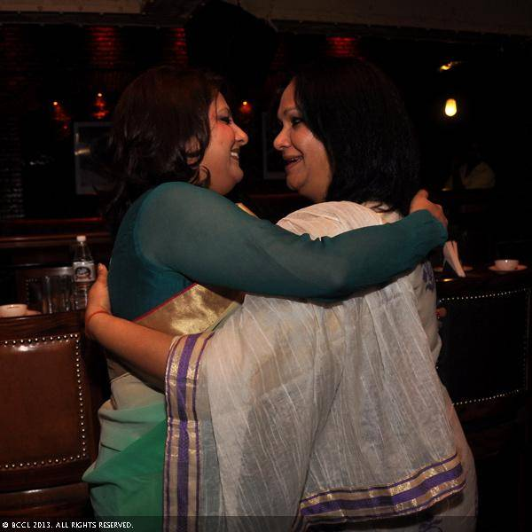 Vani Tripathi with Prathiba Prahlad during her birthday bash, held in Delhi.