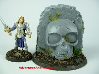 Skull shrine in jungle ruins Fantasy war game terrain and scenery - UniversalTerrain.com