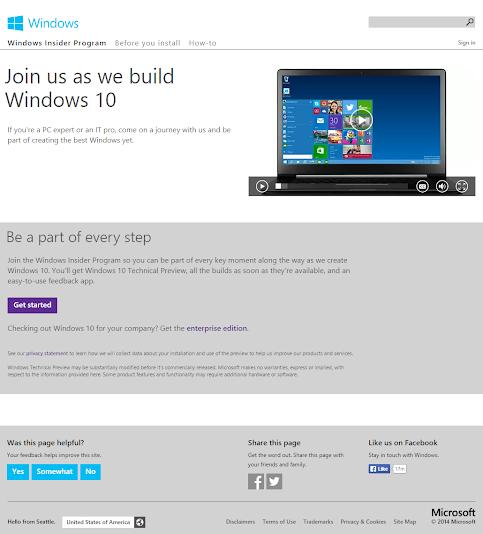 Windows 10 Technical Preview: Unduh yang Pro atau Enterprise!