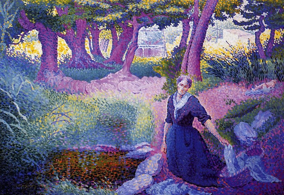 Henri-Edmond Cross - The Washerwoman