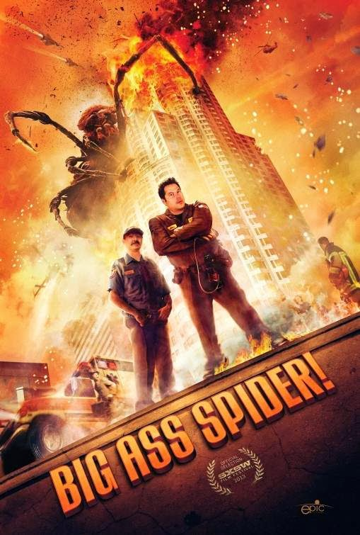 Poster Of English Movie Big Ass Spider (2013) Free Download Full New Hollywood Movie Watch Online At Alldownloads4u.Com