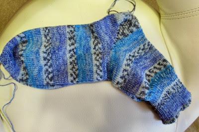 Wollmoni´s Socken auf der Pfaff Duomatic 80