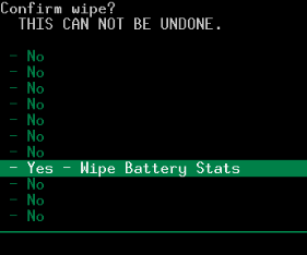 wipe battery stats android