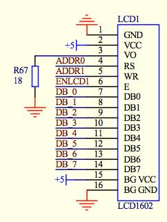 LCD1602例程接法