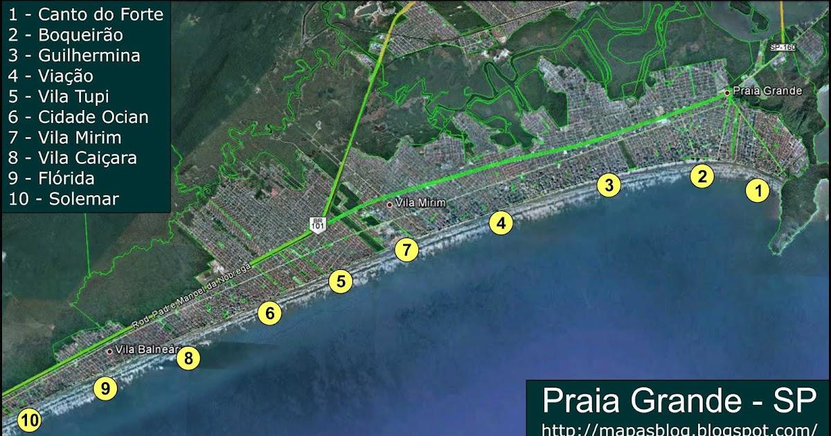 praia grande mapa Mapas de Praia Grande   SP | MapasBlog praia grande mapa