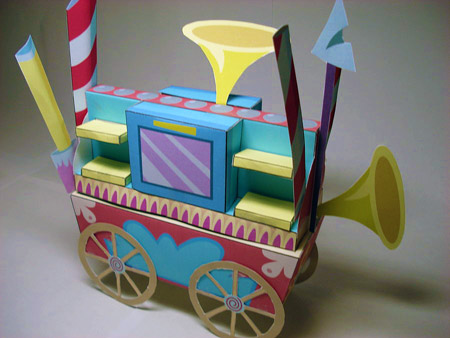 Pinkie Pie Welcome Wagon Papercraft