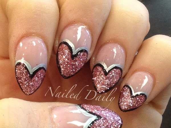 Glitter Heart French