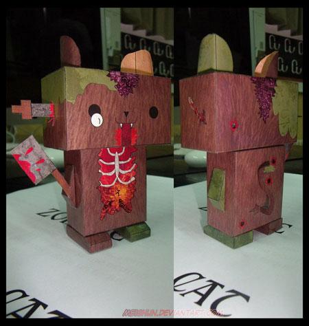 Evil Zombie Cat Paper Toy