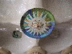 Ceiling disks very similar to Sagrada Familia