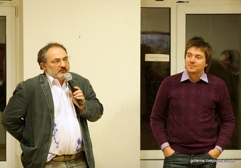 Марат Гельман на открытии выставки Михаила Лёзина