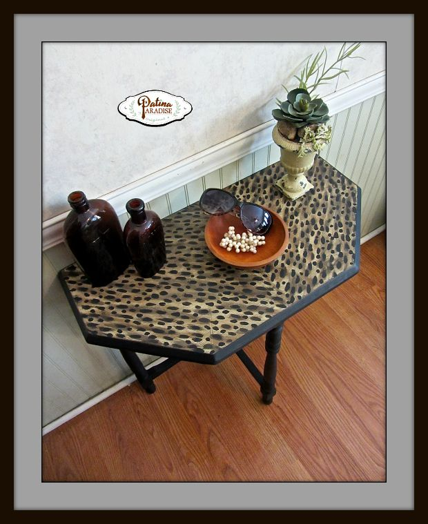 Faux Leopard Table Top
