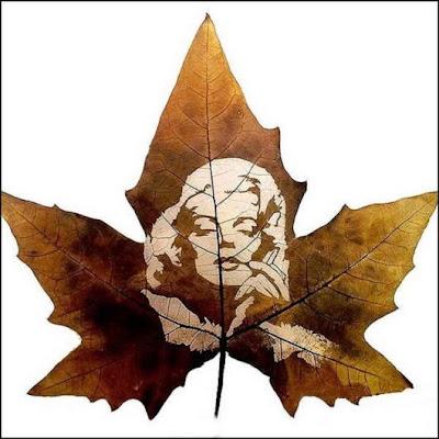 انقش صــورة تحــب الشجــر.. غاية الروعة leaf_painting_art_16