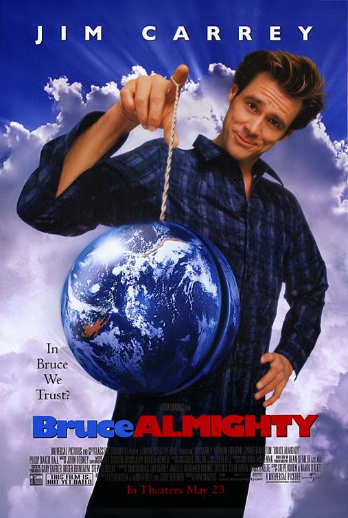 Poster Of Bruce Almighty (2003) Full Movie Hindi Dubbed Free Download Watch Online At Alldownloads4u.Com